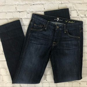 7 For All Mankind Dark Wash A Pocket Straight Leg